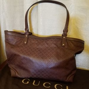 Gucci Bags - Gucci Leather Diamante Large Craft Tote